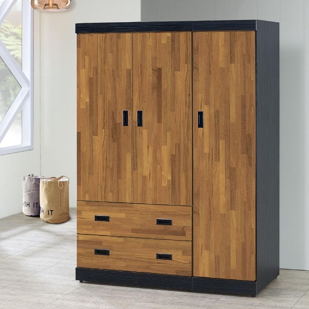 120cm衣櫥-c612-4木心板 推門滑門開門 衣服收納 免組裝 金滿屋