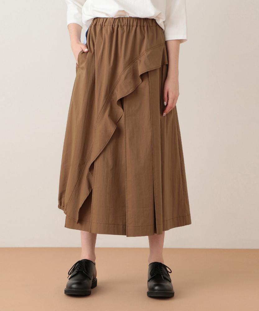 波浪邊褶飾長裙
