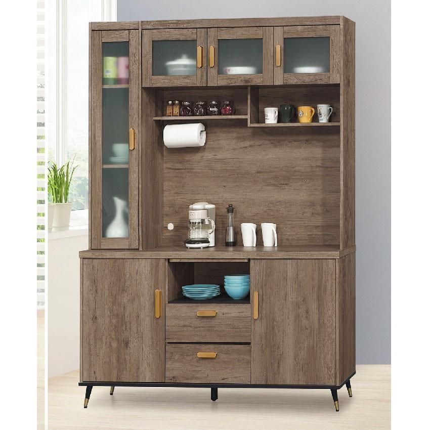 151cm餐櫃-e708-5伸縮餐桌櫃  尺餐櫃收納 廚房櫃 餐櫥碗盤架 中島大理石 金滿屋