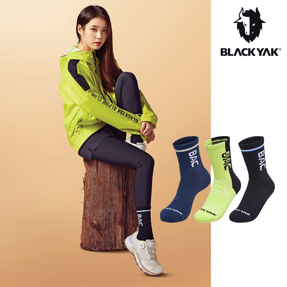 【BLACKYAK】BAC COOLMAX中筒襪 [萊姆色/海軍藍/黑色]跑襪 野跑 馬拉松 運動襪 | BYAB1NAB02