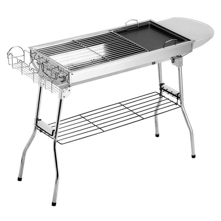 烤肉架 燒烤爐家用木炭不銹鋼燒烤架戶外碳烤肉爐子架子加厚野外全套用具