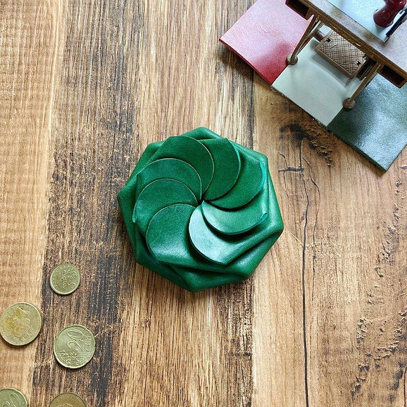 意大利Buttero一鍵式硬幣盒綠色
