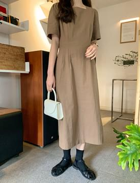 韓國空運 - Toy Pintuck Linen Long Dress 長洋裝