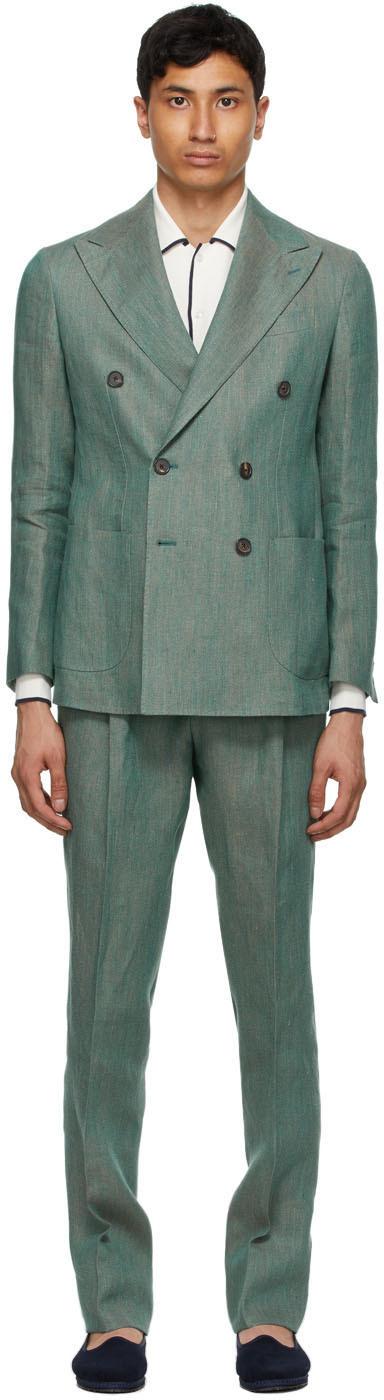 DOPPIAA 绿色 Aareseant 西服套装