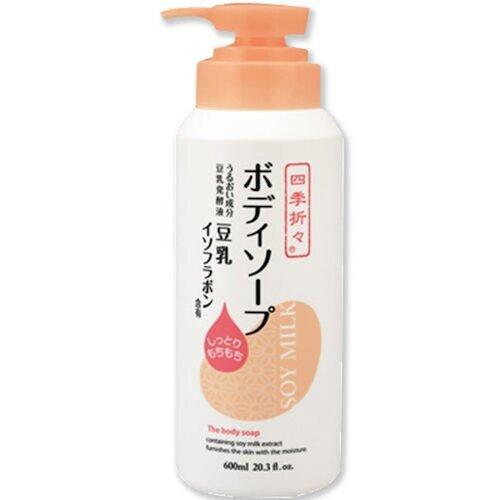 日本【 熊野油脂】 四季應時異黄酮豆乳沐浴露600ml