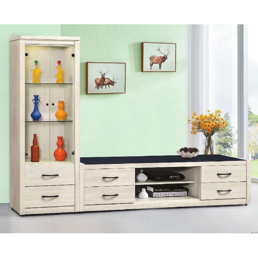 273cml櫃-e409-4客廳組合長櫃 展示收納櫃 北歐工業風 tv櫃 金滿屋