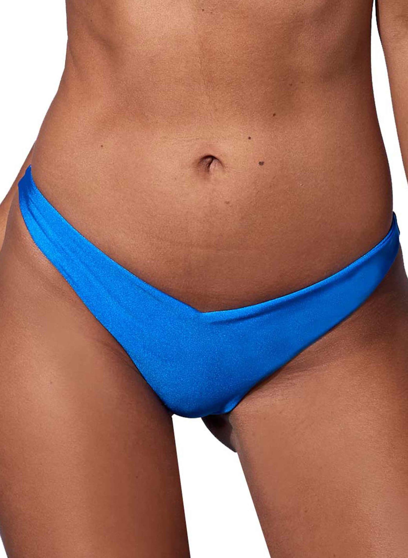 Royal Blue V Waist Brazilian Bottom #fluomania