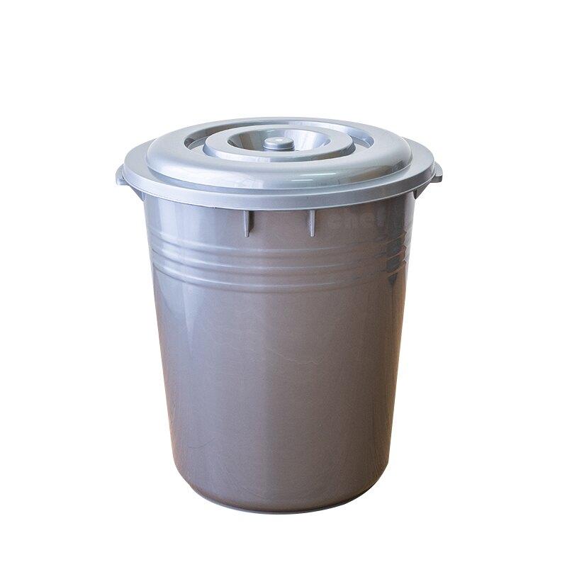 聯府銀采水桶附蓋46L萬能桶儲水桶垃圾桶CN46