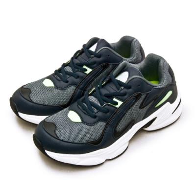 ARNOR 輕量時尚緩震厚底慢跑鞋 GOGORUN系列 灰藍黑 03185