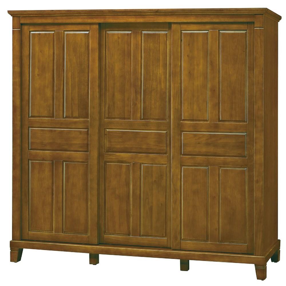 212cm衣櫥-c536-1木心板 推門滑門開門 衣服收納 免組裝 金滿屋