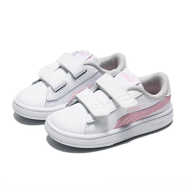 PUMA 休閒鞋 SMASH V 白粉 黏帶 運動鞋 小童(布魯克林) 36517428