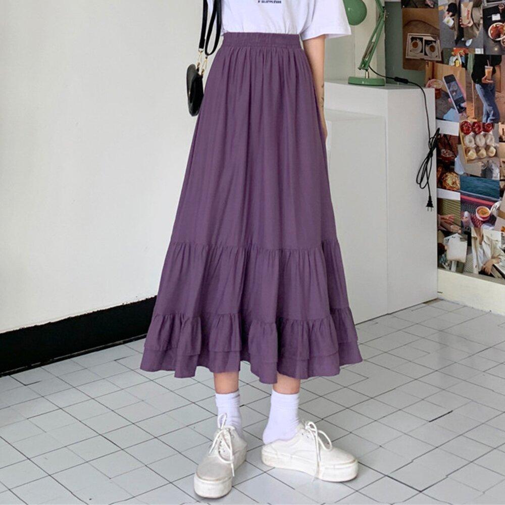 【KD.PRO】[預購]韓版甜美荷葉蛋糕裙(優雅/氣質/輕熟女/KDS-1174)