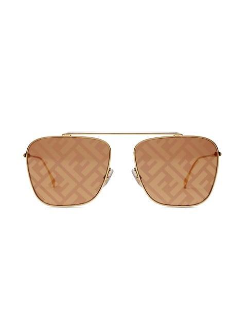 61MM Square Logo Sunglasses