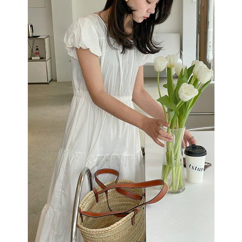 99%棉寬鬆連衣裙女2021夏季新款韓版氣質減齡蛋糕裙