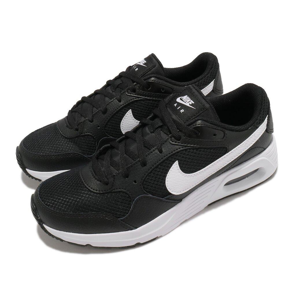 NIKE 休閒鞋 Air Max SC 運動 女鞋 氣墊 舒適 避震 簡約 球鞋 穿搭 黑 白 [CZ5358-002]