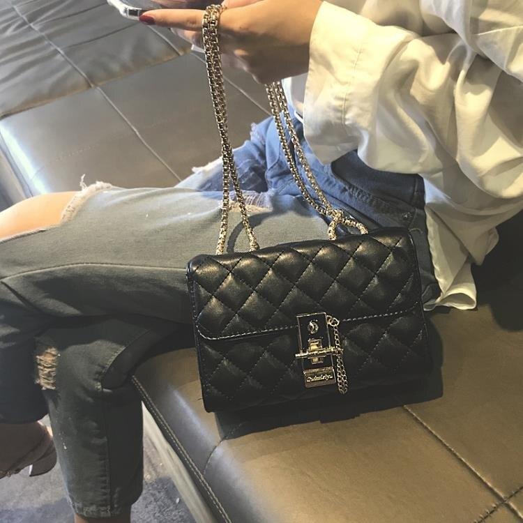 包包女新款潮韓版菱格鏈條包chic百搭斜挎包時尚高級感女包