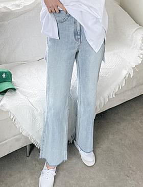 韓國空運 - Wassup Long Flared PT 牛仔褲