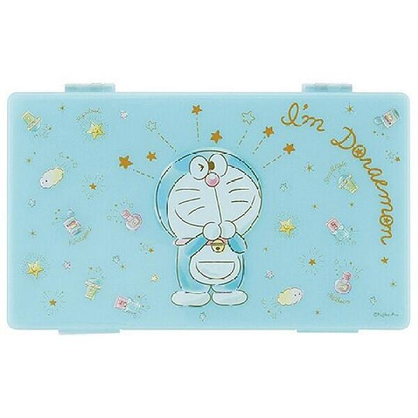 小禮堂 哆啦A夢 攜帶型塑膠口罩盒 抗菌口罩盒 口罩夾 口罩套 Ag+ (藍 眨眼) 4973307-53967