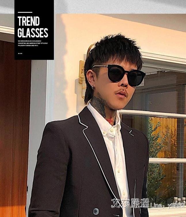 潮太陽鏡開車平光眼鏡司機鏡潮人駕駛墨鏡男