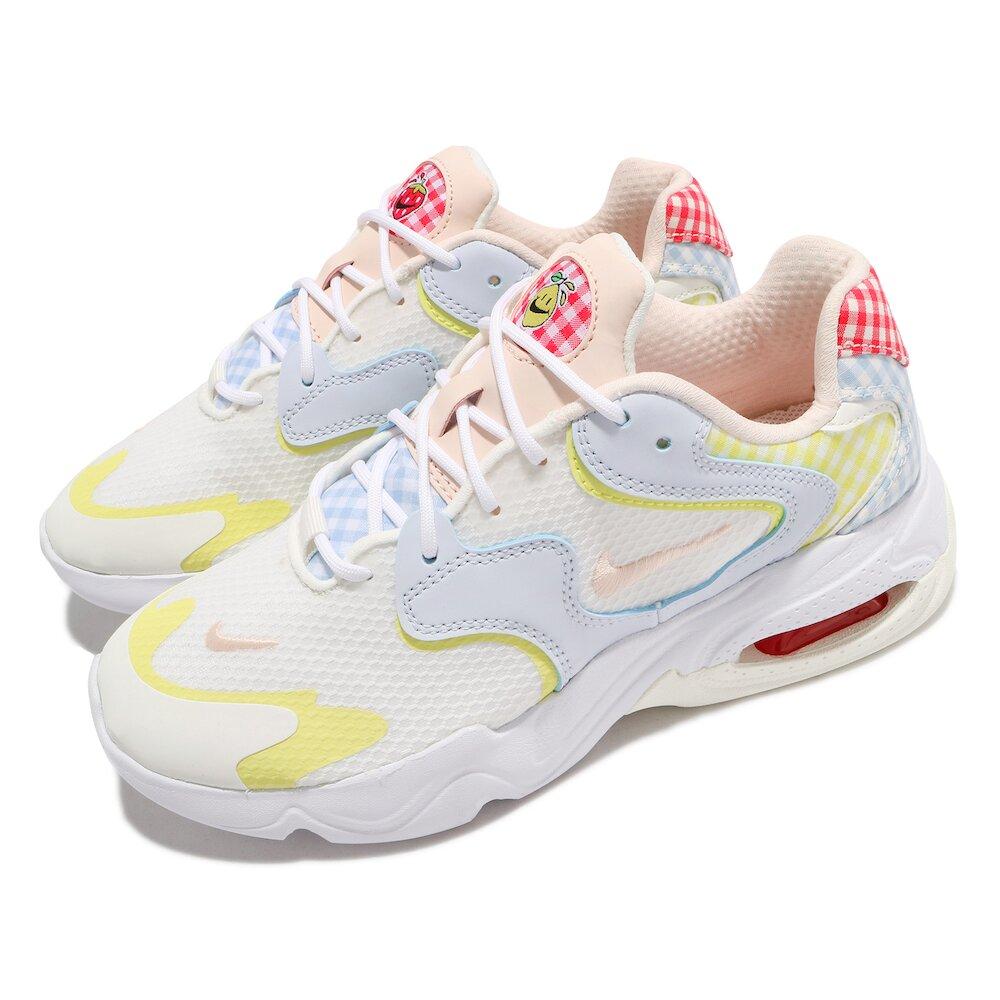 NIKE 休閒鞋 Air Max 2X 運動 女鞋 氣墊 舒適 避震 格紋拼接 穿搭 白 彩 [DJ5056-481]