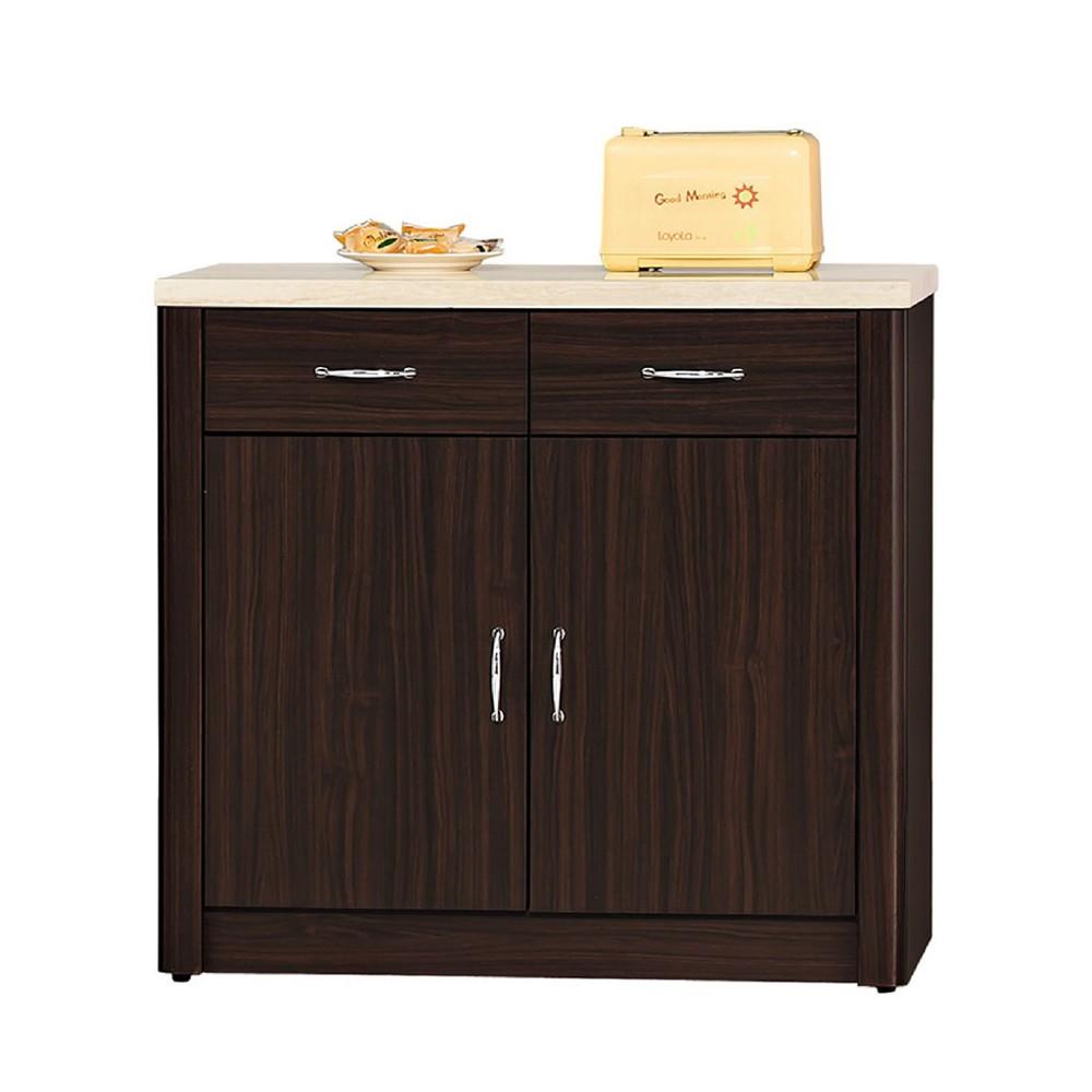 81cm仿石面碗盤櫃下座-c804-3伸縮餐桌櫃  尺餐櫃收納 廚房櫃 餐櫥碗盤架 中島大理石 金