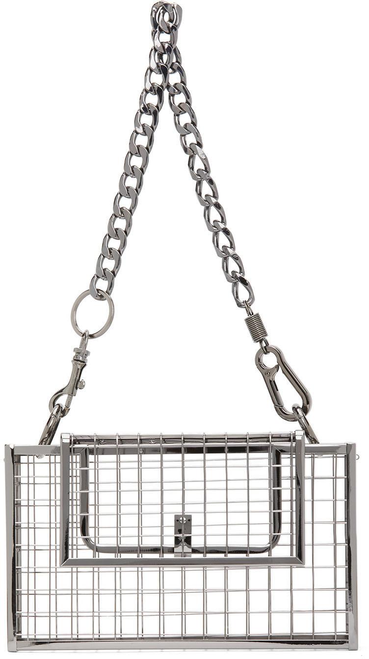 Martine Ali SSENSE 独家发售银色 Desi 单肩包
