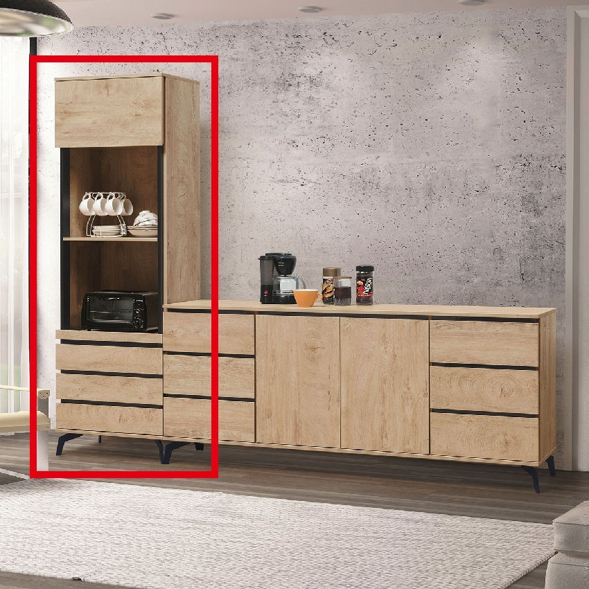 60cm收納立櫃-e730-1伸縮餐桌櫃  尺餐櫃收納 廚房櫃 餐櫥碗盤架 中島大理石 金滿屋