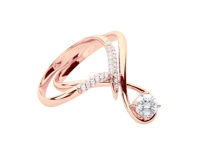 莫桑石14k金鑽石結婚戒指組合 水滴形求婚戒指 流星訂婚戒指套裝