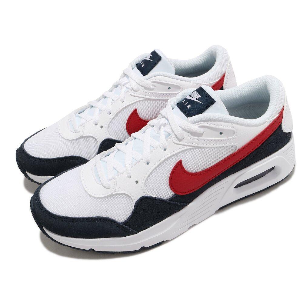 NIKE 休閒鞋 Air Max SC 運動 女鞋 氣墊 舒適 避震 簡約 球鞋 穿搭 白 紅 [CZ5358-103]