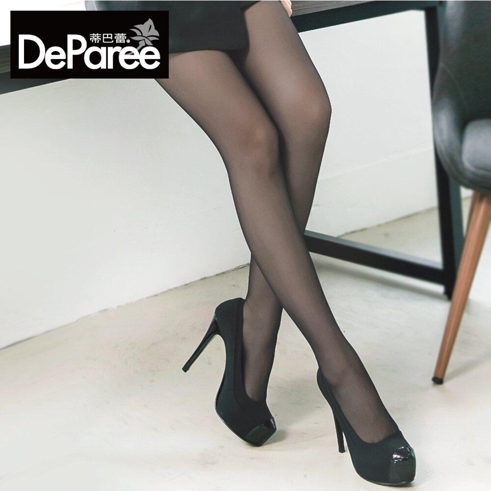 Deparee蒂巴蕾 豐盈輕體-彈潤 3012 L-LL 彈性絲襪 (膚/黑)