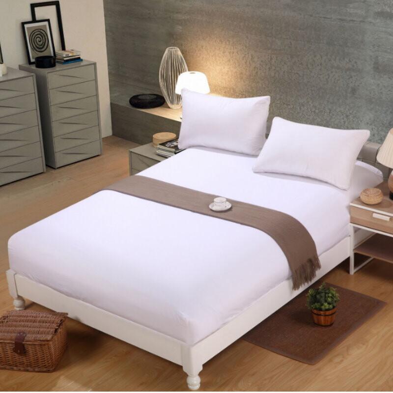 gt320素色床包 床單 雙人床 磨毛純色床罩保護套 床墊套 防塵罩 床套 整圈環繞鬆緊帶