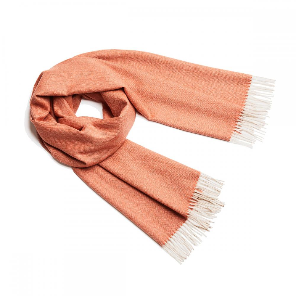 Alpaka Shawl Exclusive Fishbone 極致魚骨紋系列 素面單色 羊駝毛 披肩 / 圍巾(紅陶藝術)