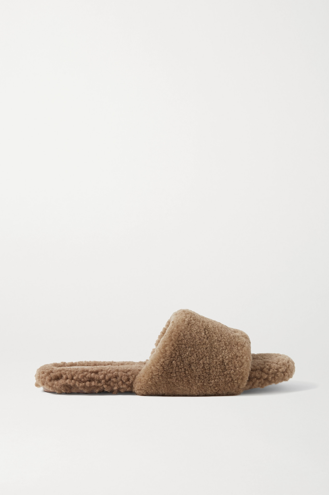 PORTE & PAIRE - Shearling Slides - Brown - IT40