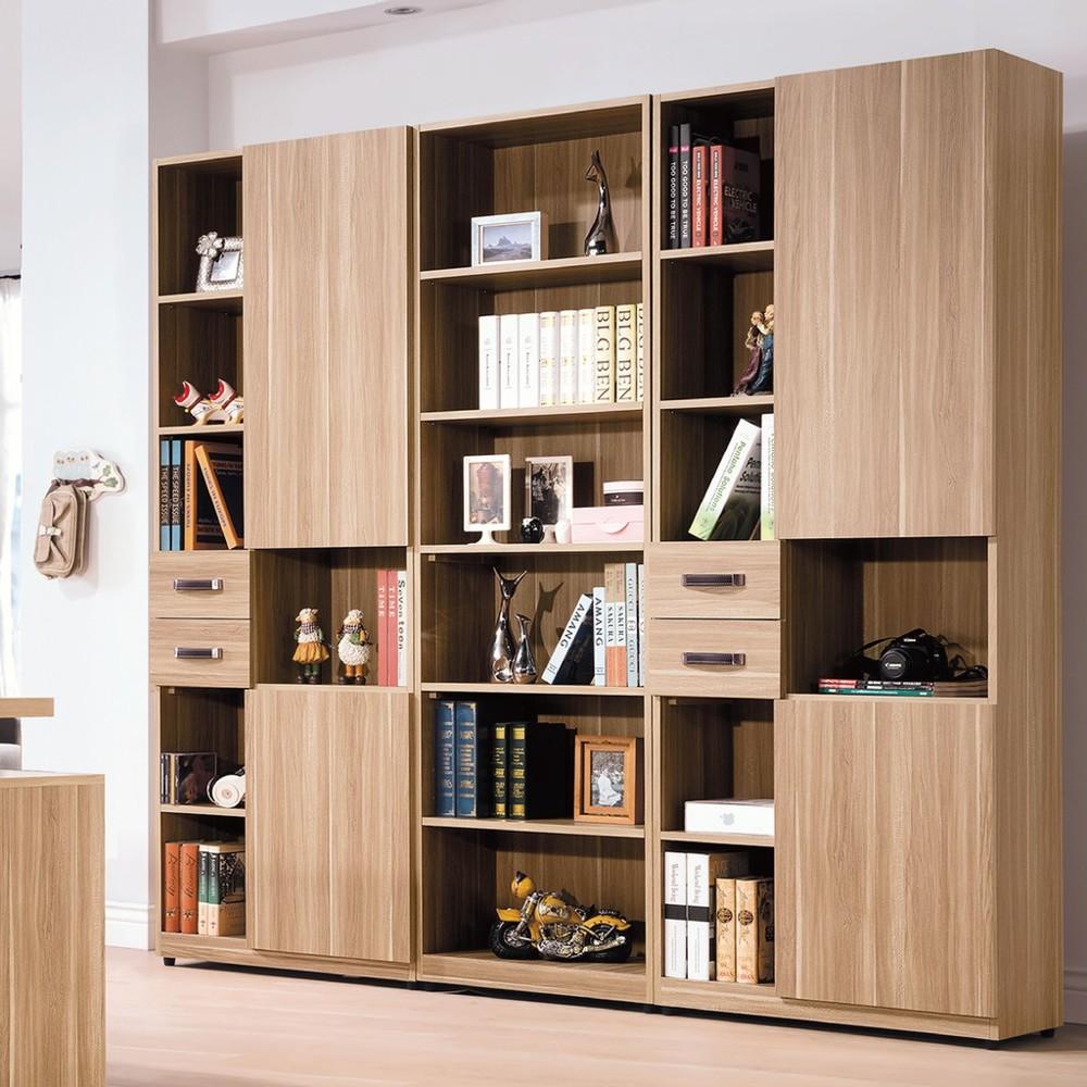 210cm組合書櫃-b491-02北歐工業 置物櫃 玻璃實木 書房書櫃書架 櫥櫃 層架收納整理 金
