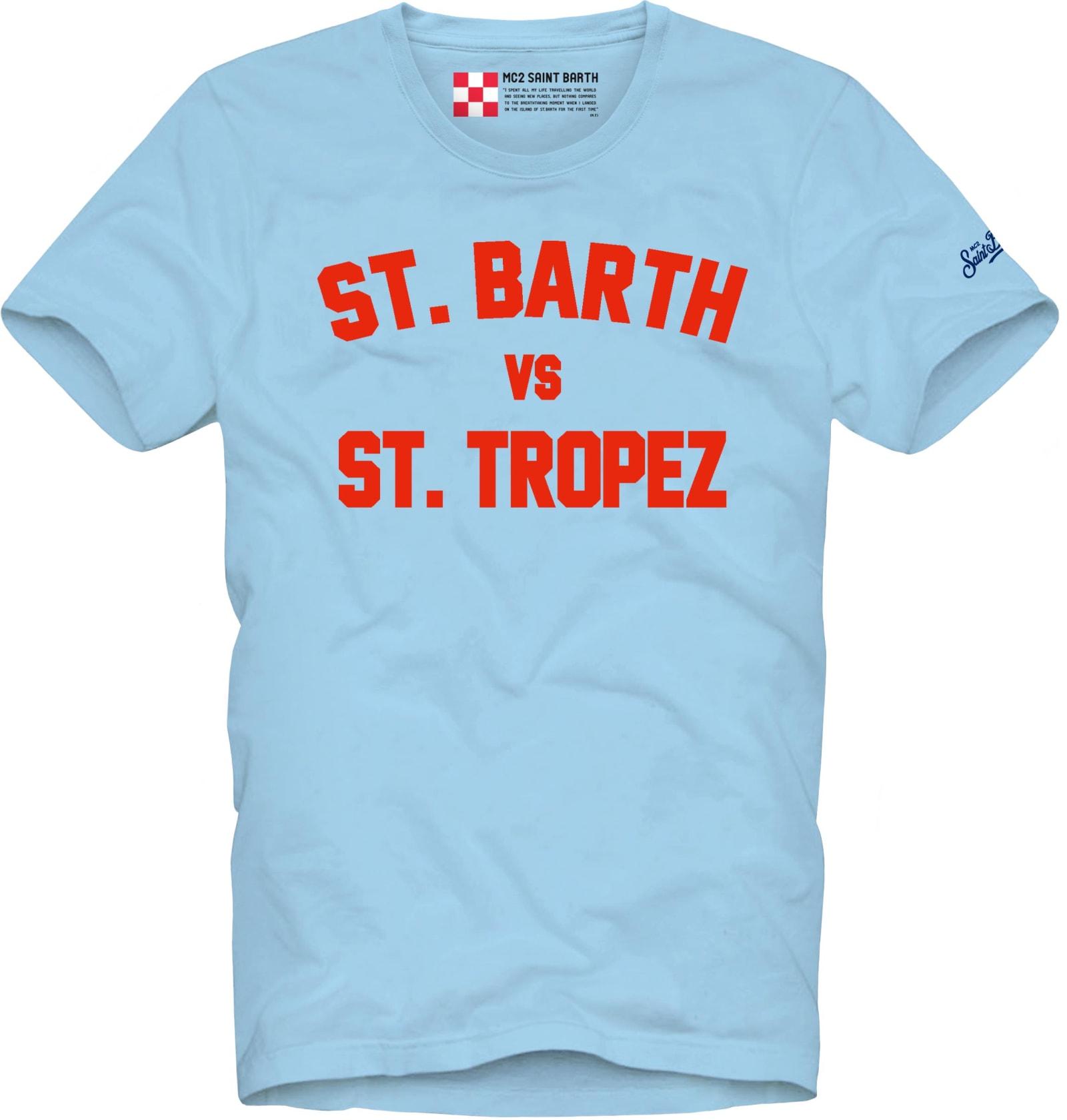 St Barth Vs St Tropez Printed Man T-shirt