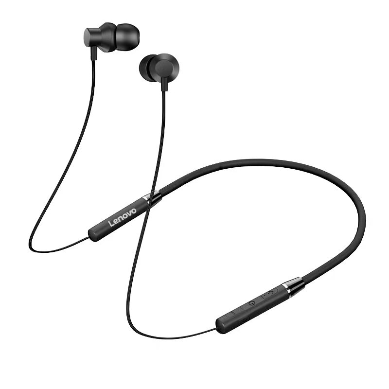 LENOVO  聯想 HE05藍牙耳機 高性價比 運動音樂耳機 入耳頸掛脖式 雙耳耳機 藍芽 耳機