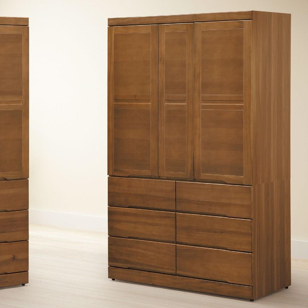 120cm衣櫥-c613-2木心板 推門滑門開門 衣服收納 免組裝 金滿屋