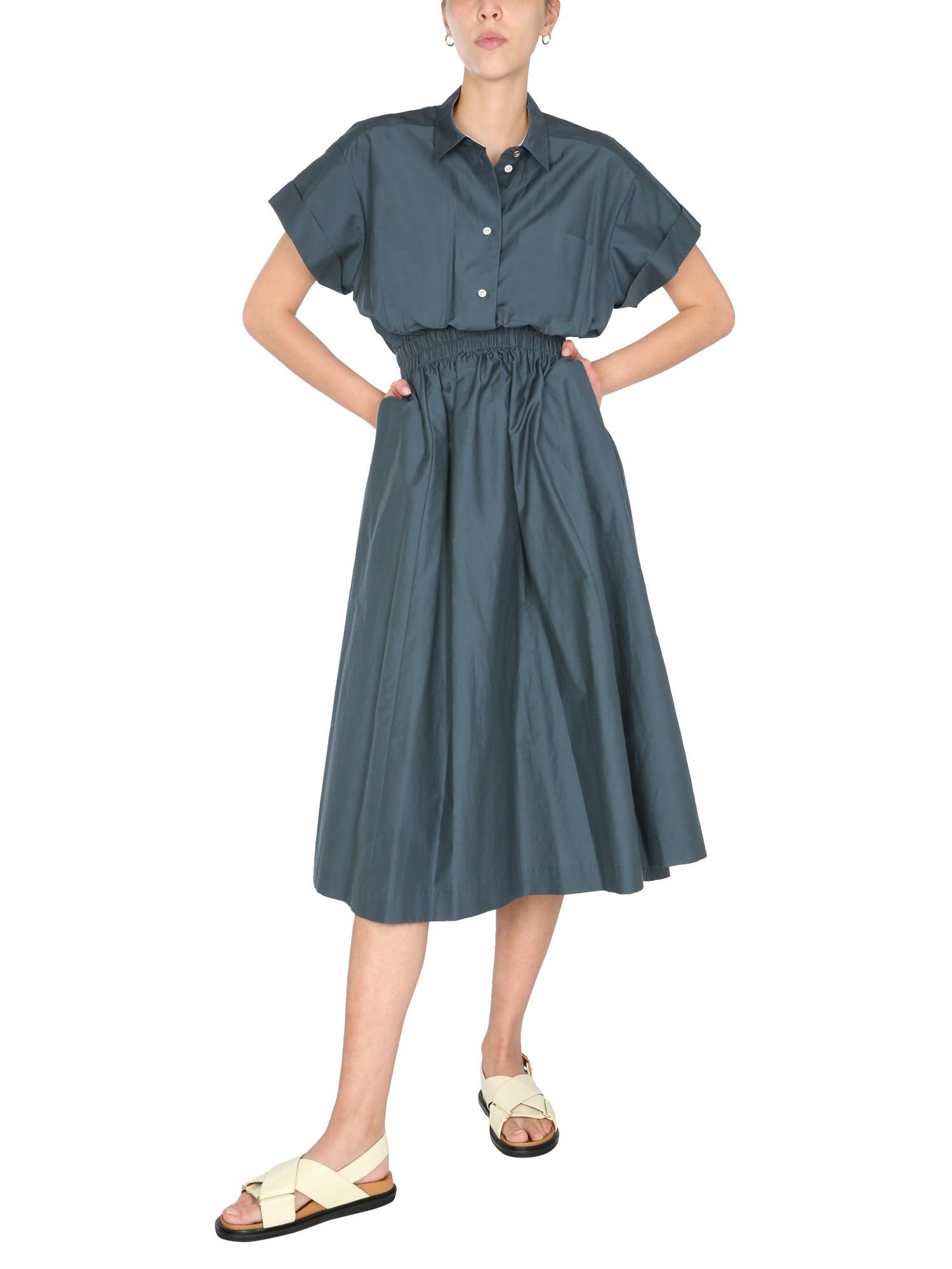 paul smith silk and cotton blend midi dress