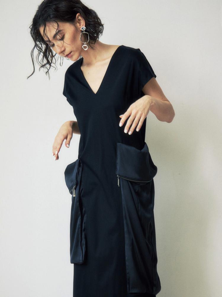 腰包大口袋設計洋裝