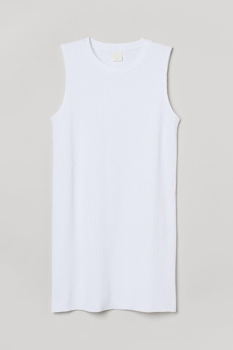 H & M - 羅紋長衫 - 白色