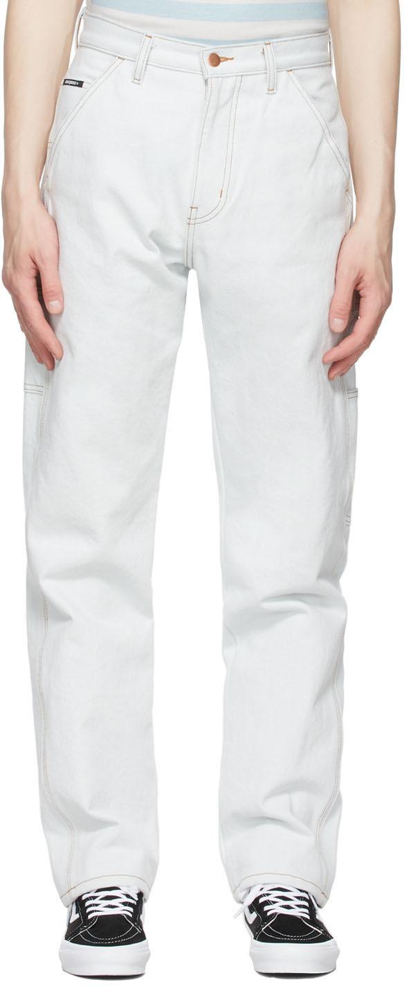 Noon Goons SSENSE 独家发售蓝色 Throttle 牛仔裤