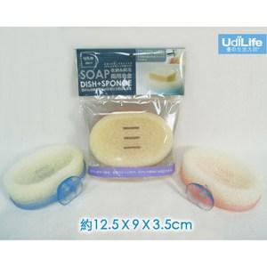 【一品川流】收納刷洗兩用皂盒-4入