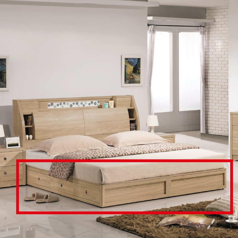 182cm六抽床底-c545-4床底 床架 高腳床組 抽屜收納 臥房床組 金滿屋