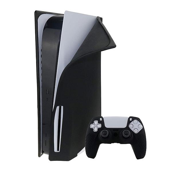 [2美國直購] DMLNN 主機及手把矽膠保護套 防塵 防刮 黑色 適用Playstation 5 光碟版