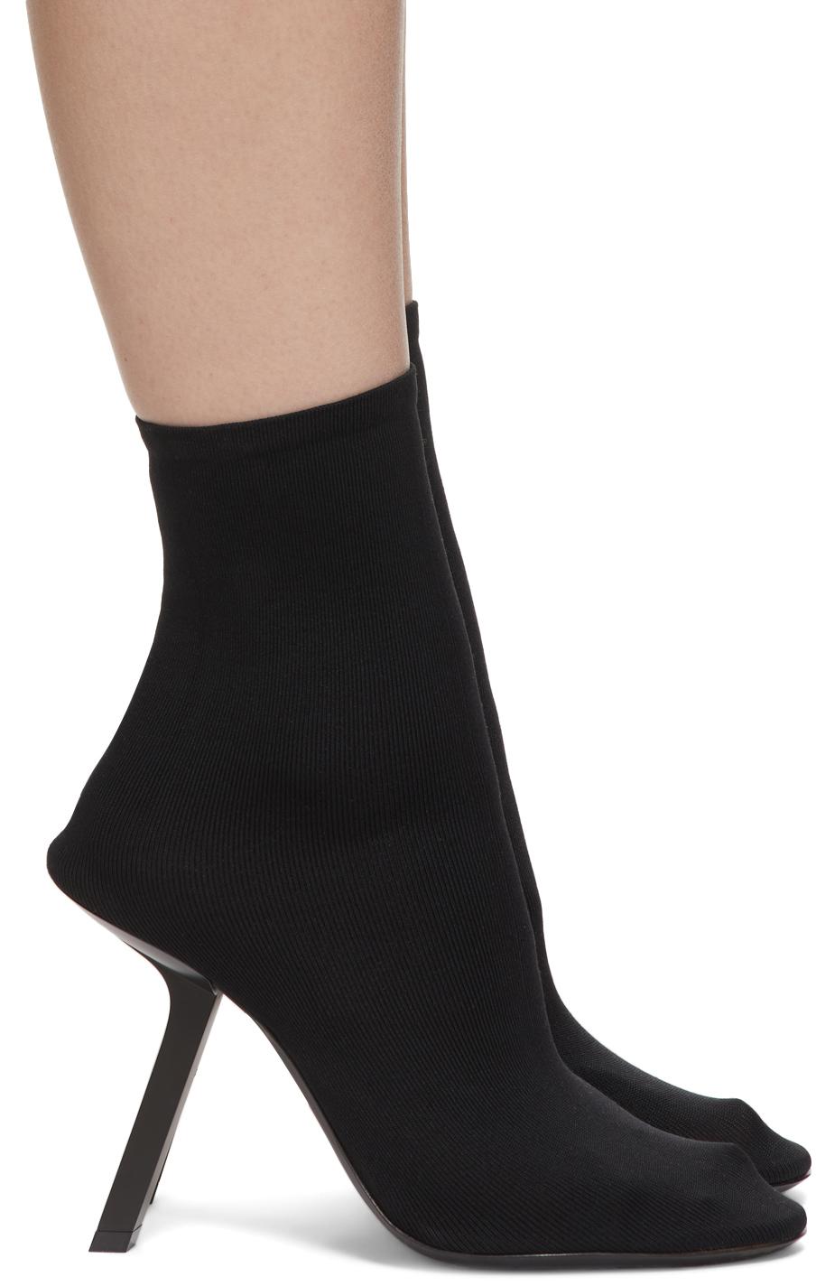 Balenciaga 黑色 Stretch 踝靴