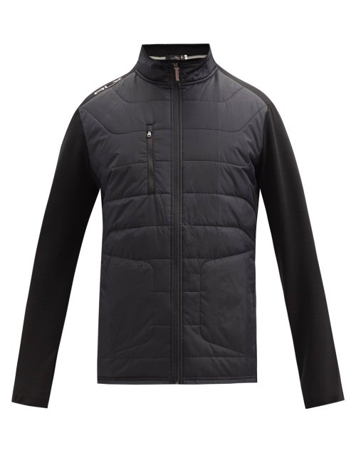 Polo Ralph Lauren - Shell-panelled Stretch-jersey Jacket - Mens - Black