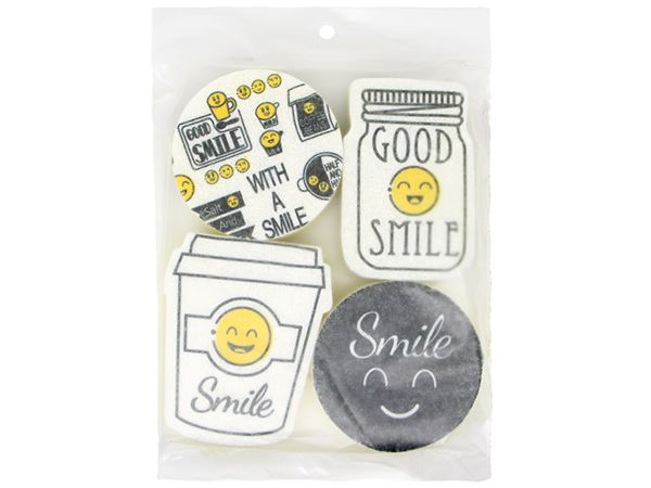 Smile微笑海綿菜瓜布(4入)【DS001045】