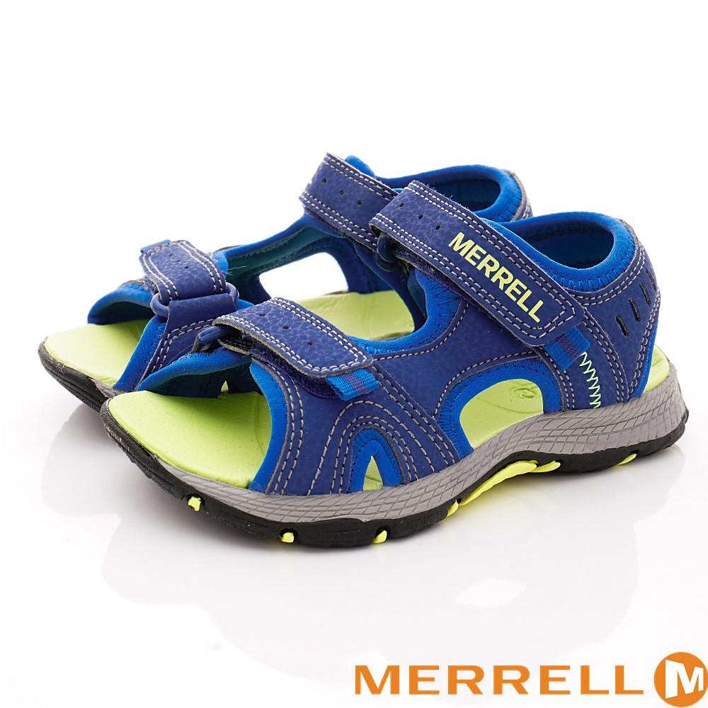美國MERRELL運動涼鞋261236藍(中大童段)16cm17cm 18cm 19cm 23cm-零碼出清