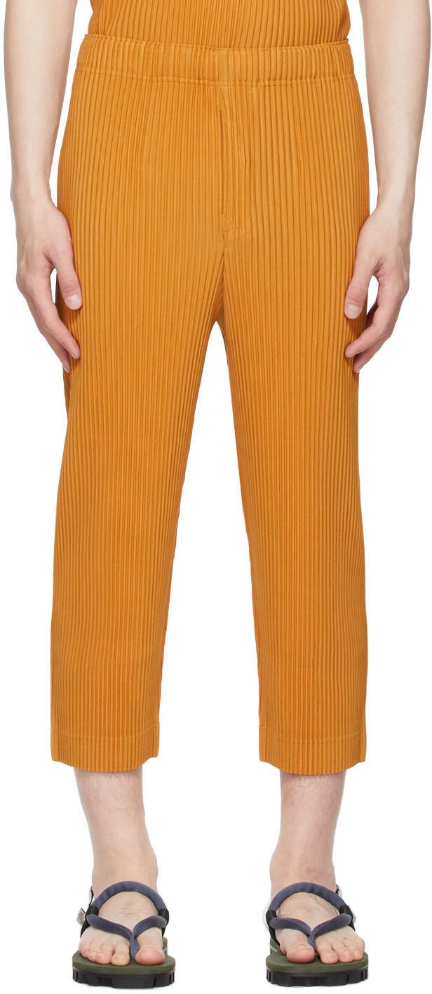 Homme Plissé Issey Miyake 黄色 Monthly Color April 长裤