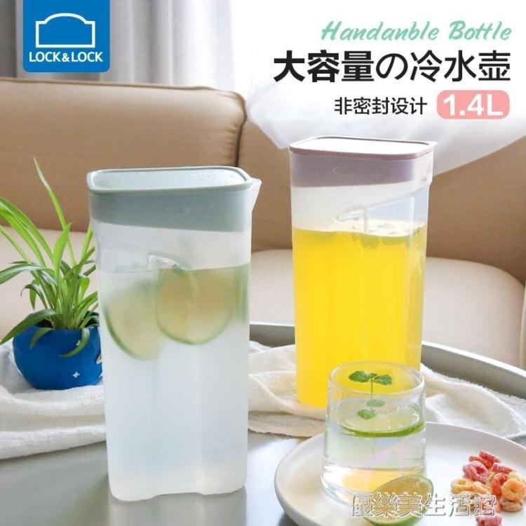 樂扣樂扣冷水壺耐高溫大容量家用塑料涼水杯透明裝水壺冰箱冰水瓶
